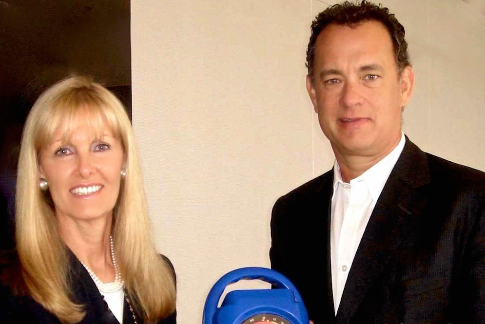 Kristine Pearson and Tom Hanks