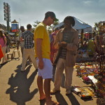 Jack bartering at the market in Lusaka