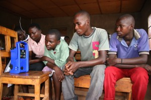 Rwandan youth listening group